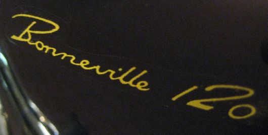 bonneville 120 decal triumph 65