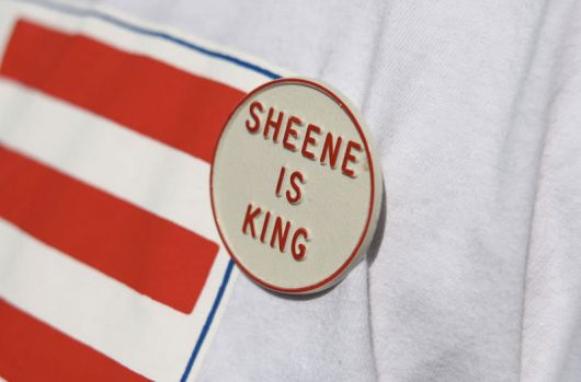 sheene is king button