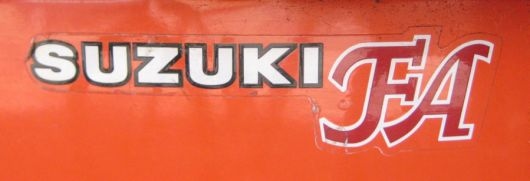 suzuki fa decal